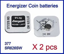 Energizer SR626W SR626SW (377 376) Silver Oxide coin Battery 2 pcs FREE Shipping