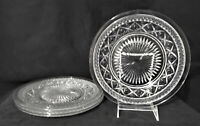 """Vintage IMPERIAL GLASS (4) Dinner Plates CAPE COD Clear 10-1/8"""" MINTY!"""