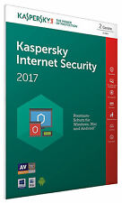 Kaspersky Internet Security 2017 2 PC / Geräte 1Jahr Vollversion Key / Antivirus