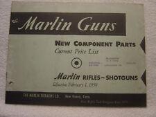Marlin 1959 component parts catalog