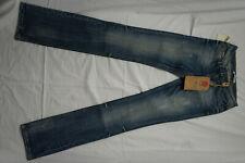 LTB slim Damen Stretch Jeans Hose Low Rise 27/36 W27 L36 blau used look NEU AD14