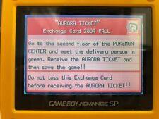 Pokemon Aurora Ticket Distribution Service (From Real GBA Development Cartridge)