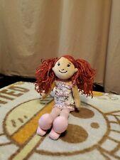 """2004 Manhattan Toy Groovy Girls Approx 12"""" Nicole Rag Doll Dressed Plush"""