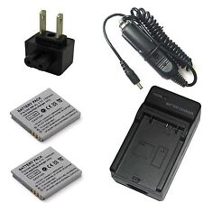 Charger + 2x Battery for Canon PowerShot ELPH 100 HS 300 HS 310 HS 330 HS Camera