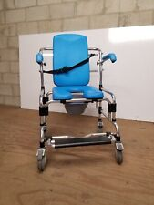 Caspian Mobile Shower Commode Chair w/ adj. seat, armrests & backrest