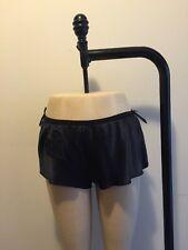 Victor & Rolf H&M Black Silk Boy Short Panty Night Lingerie Heart NWOT Sz 12