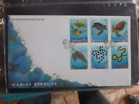 NEW ZEALAND 2001 MARINE REPTILES SET 6 STAMPS FDC FIRST DAY COVER