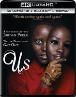 Us, 4K Ultra HD + Blu-ray + Digital, 2019, New w/Sleeve, by Jordan Peele