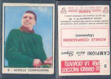 FIGURINA CAMPIONI DELLO SPORT PANINI 1966/67-ACHILLE COMPAGNONI-N.8