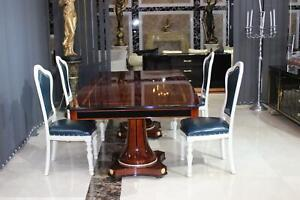 Armchairs Chair Set Group Dining Room Wood Pads Chairs 4x Immediate Available
