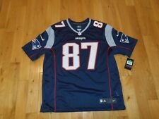 Nike GRONKOWSKI NEW ENGLAND PATRIOTS Mens NFL Team Replithentic Sewn JERSEY XL