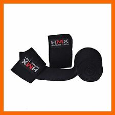 HMX POWERLIFTING KNEE WRAPS BODYBUILDING WEIGHT LIFTING STRAPS GYM SUPPORT BLACK