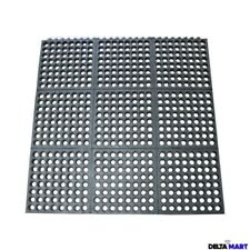 Interlocking Rubber Safety Mat Wet room flooring 3ftx3ft(90x90cm) restaurant mat