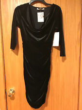 Boston proper black velvet dress size 2