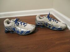 Classic 2005 Used Worn Size 12 Nike Shox Turbo III Shoes Blue Black White Silver
