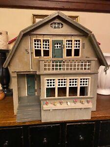 Charming Antique Gottschalk red roof dollhouse, all original