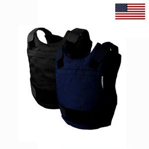New NIJ Certified 3A w Kevlar Bulletproof Stab Resistant Vest Body Armor - Large
