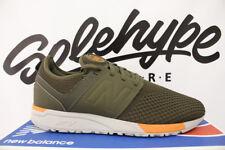 NEW BALANCE 247 OLIVE GREEN ORANGE WINTER KNIT RUNNING SHOE MRL247KO SZ 12