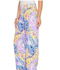 NWT Lilly Pulitzer Bal Harbour Mid-Rise Palazzo Pant So Snappy Lilac Medium M