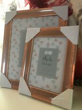 Copper Rose Gold Effect Photo Frame Wall 8x10 5x7 4x6 FreeStanding Picture Frame