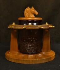 Vintage Dun-Rite Horses Humidor / Pipe Stand