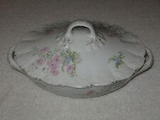 Antique/Vintage O&EG Royal Austria Dinnerware Soup Tureen With Lid Pink Floral