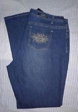 510e0f9fcaf NWT BACCINI Bling Embellished Women s Straight Leg Stretch Jeans Sz 16W