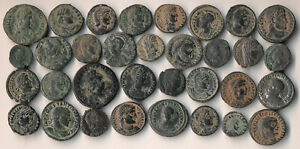 ++AUTHENTIC++ 33 ANCIENT ROMAN COPPER COINS (NICE!!) YOU IDENTIFY > NO RESERVE