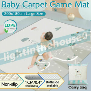 200/180CM Non-Slip Baby Carpet Game Mat Foam Puzzle Baby Pad  Crawling Blanket