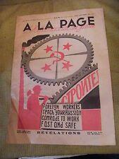 A la page N°77 Septembre 1931 Affiche soviétique révélations vie en Russie