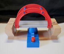 Wooden Train Bridge push button swing