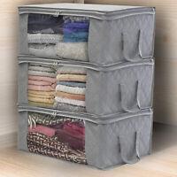 KQ_ Foldable Home Closet Storage Bag Clothes Quilt Blanket Zipper Organizer Box