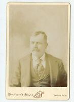 Cabinet Photo-STOWELL Family-Burlington Railroad Man-Edgar, Nebraska 1885