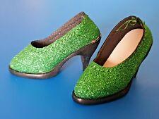*GREEN GLITTER* shoes HIGH HEELS for doll SD BJD 10/13 girl **Schuhe Pumps**