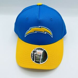 Official NFL Team Los Angeles Chargers Youth Snapback Hat Adjustable Blue Yellow