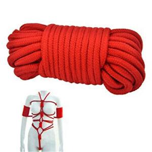 32ft/10m Soft Cotton Shibari Rope Sex Play Slave Fun String Straps Tie Up