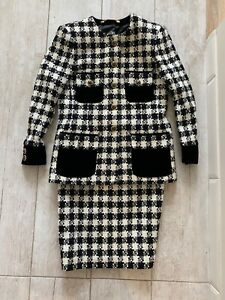 ESCADA by margaretha ley woman suit jacket skirt Lana wool size 42 Excellent