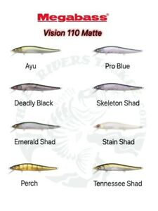 NEW Megabass Vision Oneten / 110  Matte Finish Mat Magic Jerkbaits Choose Color