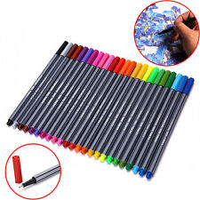 24 Colors 0.4mm Fineliner Color Pens Sketch Drawing Fine Point Art Marker Pen