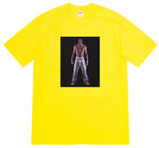 2020 Supreme Tupac Hologram Yellow T-Shirt (Size Large) Box Logo Tee relief