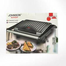 Confezione Piastra Burger Johnson Con Potenza 750WATT Sandwich Press Cucina Casa