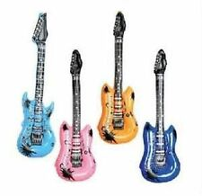 """6 INFLATABLE GUITARS ROCK AND ROLL 24"""" Party Favor Star #AA62 Free Shipping"""