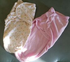 Swaddle Me Baby Girl Blanket Wrap Sleeper Swaddling Newborn 0-3 month Lot of 2