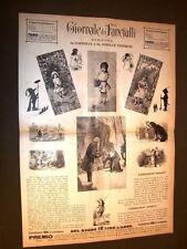 Incisione enorme 1887 Giornale fanciulli Cordelia Tedeschi + Pasqua e Natale