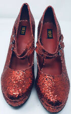 Wizard of Oz Dorothy Ruby Red Slippers High Heels Shoes Glitter Sexy 9-10 Large
