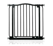 More details for safetots extra wide pressure fit stair gate matt black baby safety gate 71-280cm