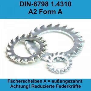 8,4 DIN 6798 Fächerscheiben Form A außengezahnte 1.4310 Edlestahl V2A A2 M8 M