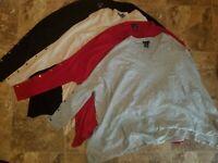 New Womens RXB Poncho Sweater Shirt Oatmeal Gray Red Black S L XL 2XL
