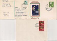 3 COVERS GERMANY DEUTSCHLAND ZIRNDORF STUTTGART DORTMUND. L1036