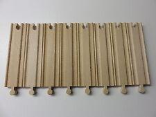 16 x gerade Schiene ca. 15 cm für Holzeisenbahn kompatibel mit Brio und Eichhorn